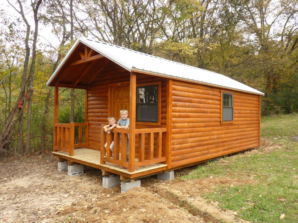 Country cabin is a small pre built log cabin dickson for Small cabins and cottages