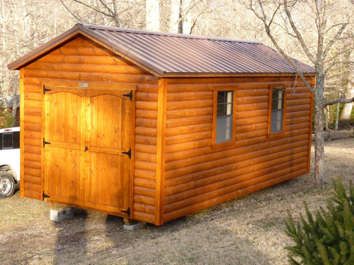 10x20 stain(bronze) roof (brown)