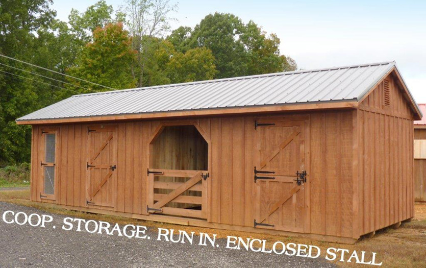 12x34 barn stain(yankee barn) roof(charcoal)