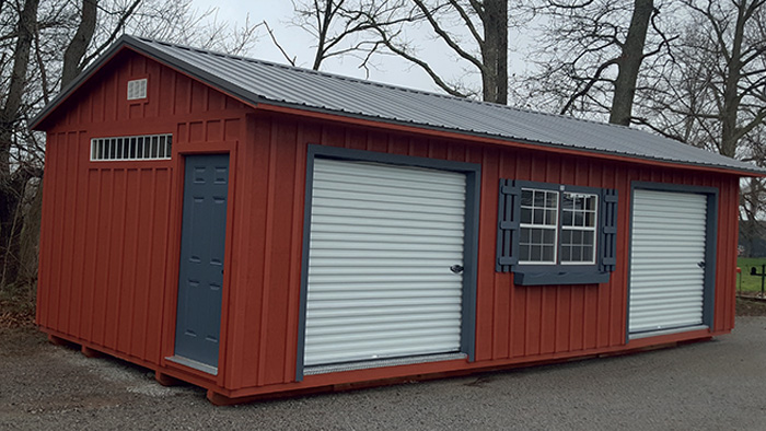 Factory Direct Prebuilt Wood Garages Made In Tennessee