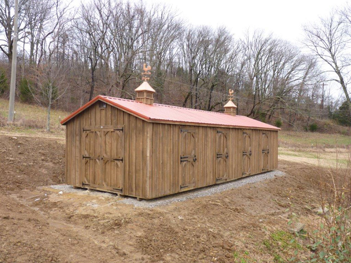 14x40- stain (hawthorn) roof (barn red)