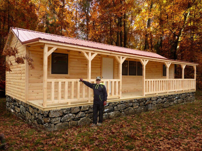 Pioneer cabin is a small cabin for sale lake cabin log for 5 structural types of log homes