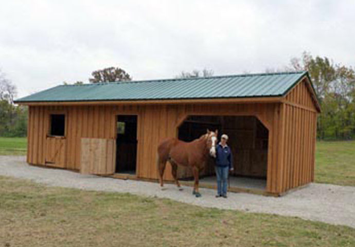 Horse run ins and sheds portable horse barn manufacturer for 2 stall horse barn kits