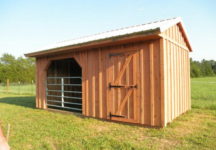 Horse run ins and sheds portable horse barn manufacturer for Barn plans for sale