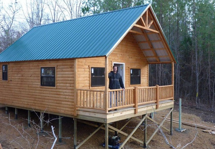 Country cabin is a small pre built log cabin dickson for 5 structural types of log homes