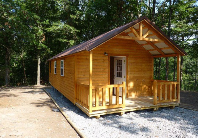 Country Cabin Is A Small Pre Built Log Cabin Dickson