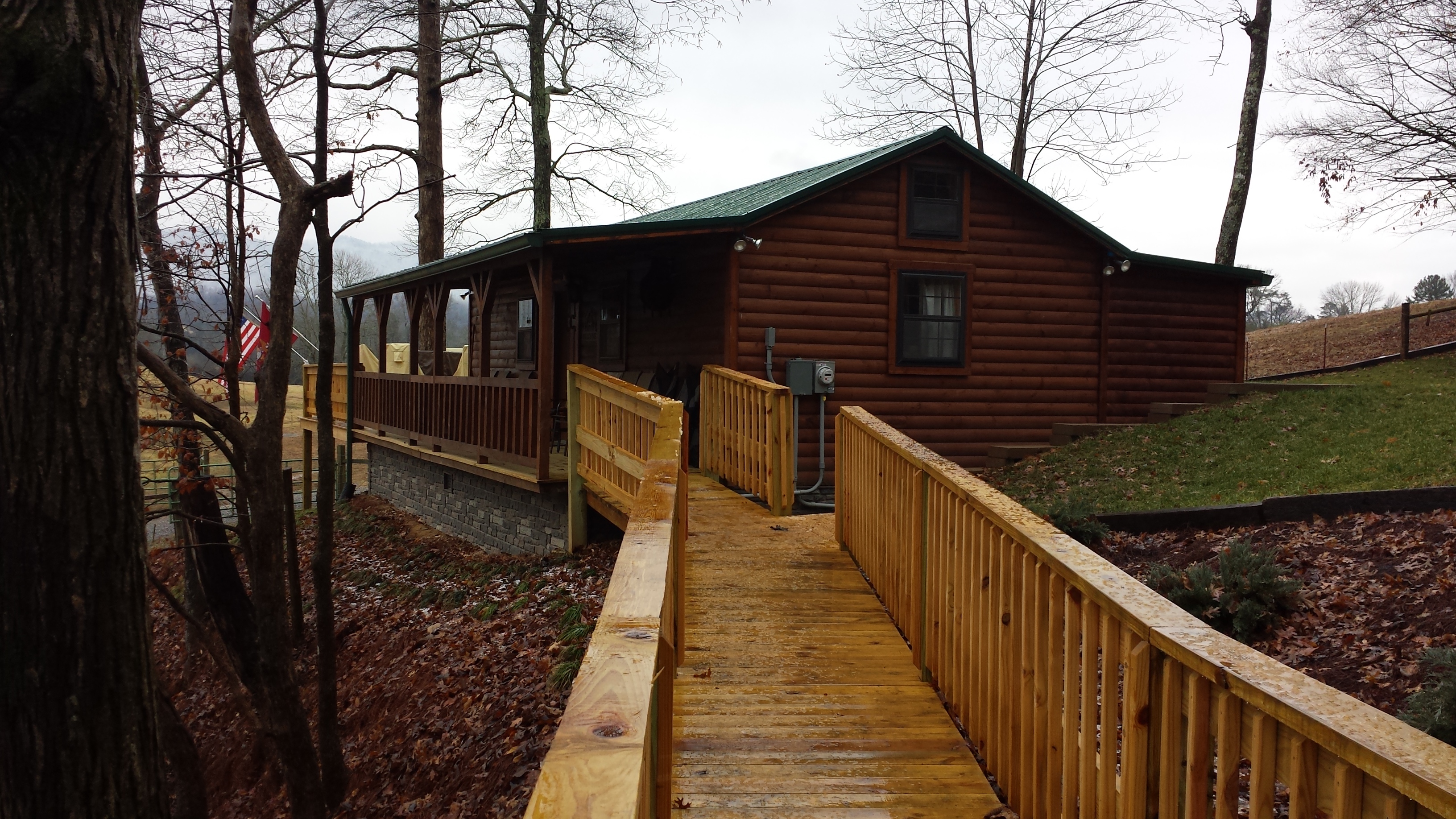 Custom cabin installed tennessee