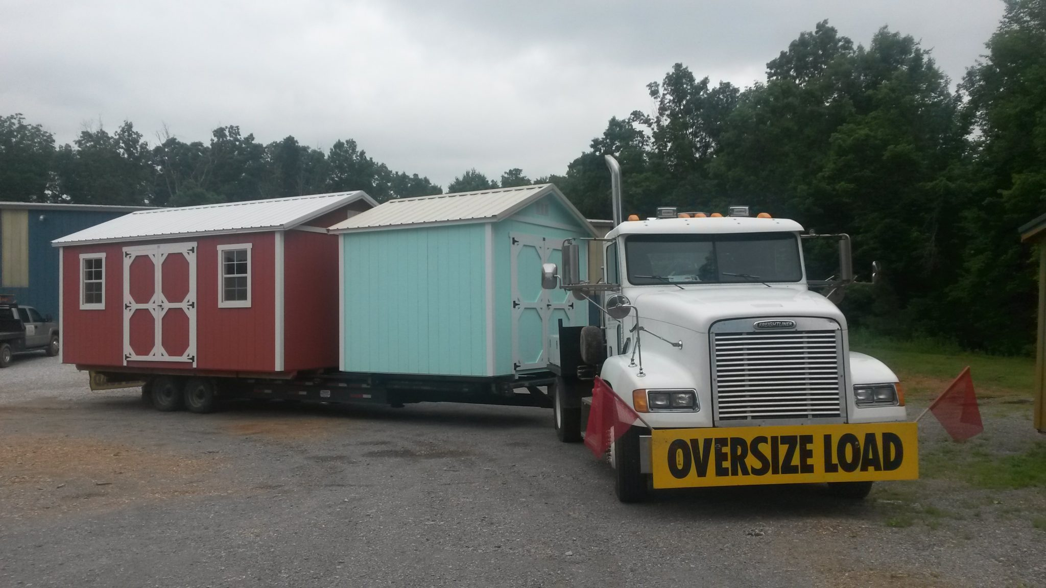 storage shed delivery