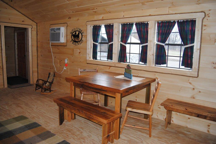 Amish Reclaimed Barn Wood Furniture 4 Table With Bench