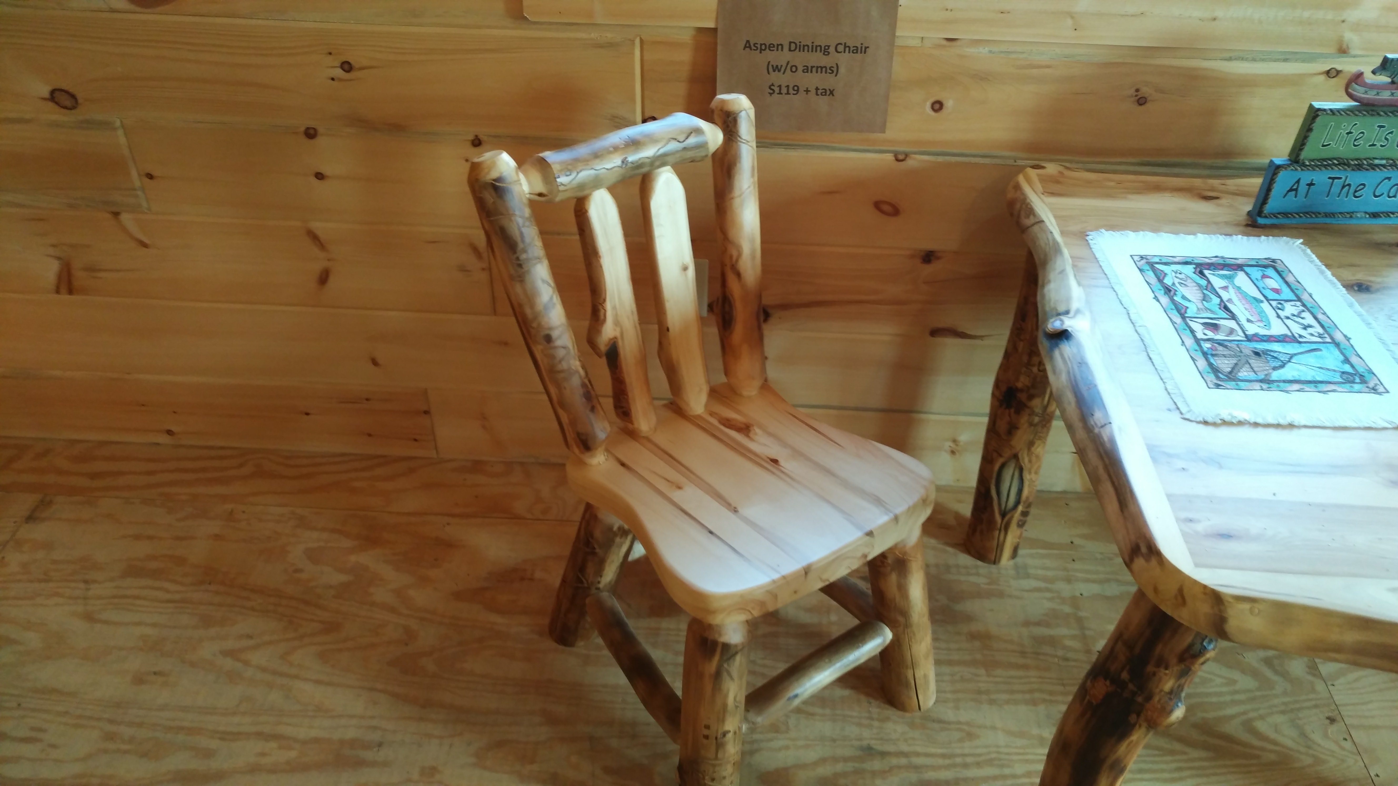Aspen Wood Dining Chair W/out Arms