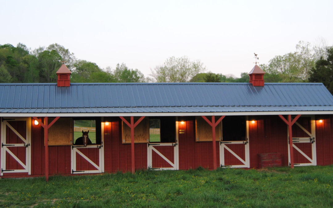 Get Ready for Winter with a Horse Barn from Hilltop Structures