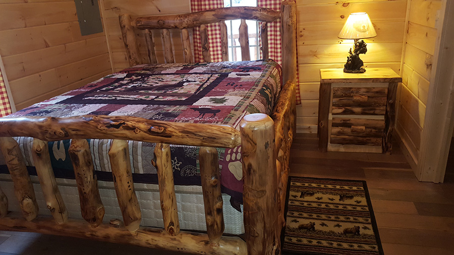 amish made aspen furniture - queen bed