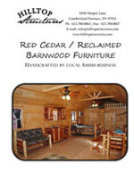 Hilltop Structures Rustic Log and Reclaimed Barn Wood Furniture Brochure (PDF)