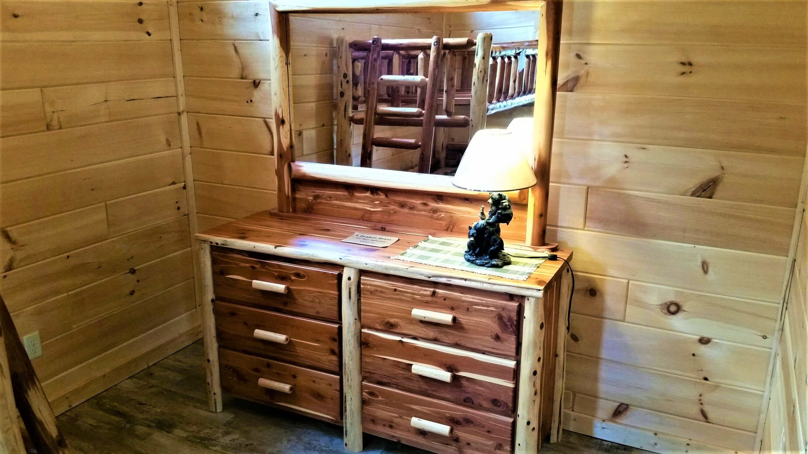 Red Cedar 6 Drawer Dresser W Mirror Factory Built