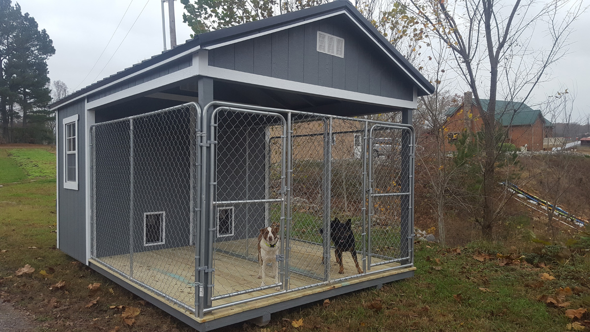 Dog kennels for Red barn dog kennel