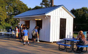 shed used as a concession stand