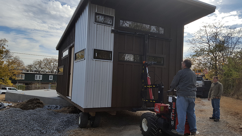 installing a tiny house on site