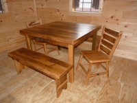 dining table made out of reclaimed barn wood